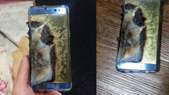 تصاویری از دو گلکسی نوت 7 منفجر شده سامسونگ