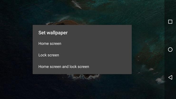 تنظیم تصاویر پس زمینه جداگانه برای صفحه قفل و صفحات اصلی