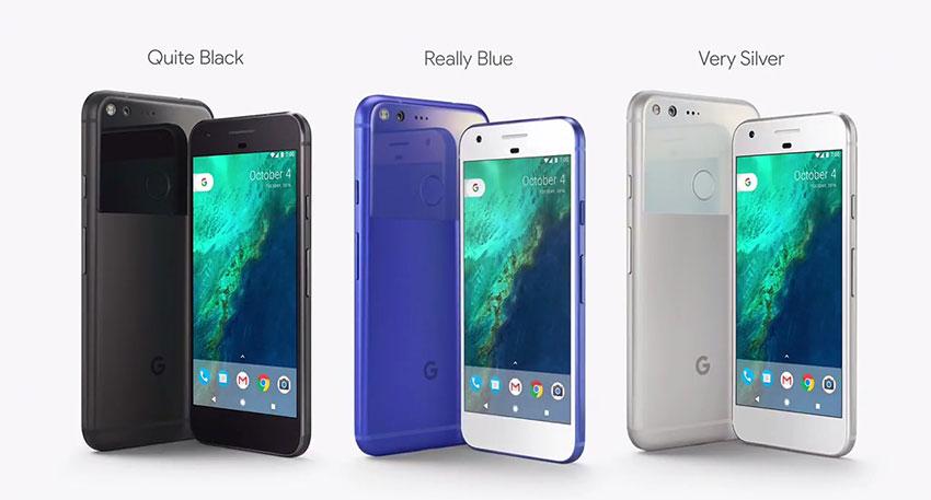 رنگبندی گوگل پیکسل و پیکسل ایکس ال