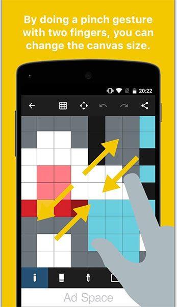 اپلیکیشن Pixel Art Maker (تصویر 1)