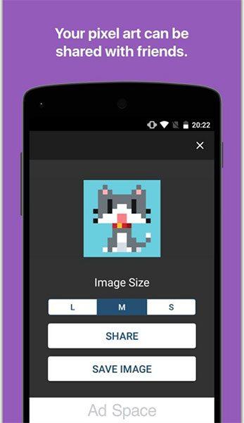 اپلیکیشن Pixel Art Maker (تصویر 3)