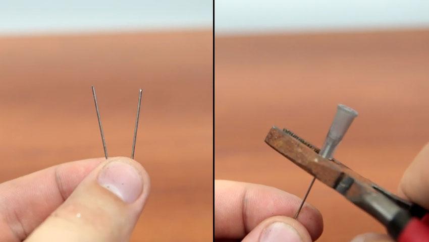 جدا کردن قسمت فلزی سوزن