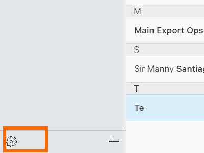 تنظیمات مخاطبین در iCloud