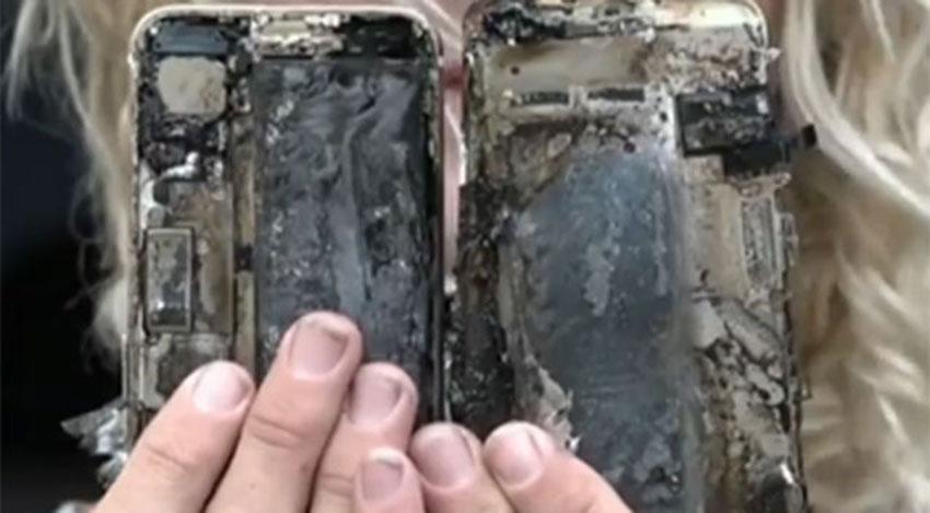 آتش گرفتن یک دستگاه آیفون 7 (تصویر 2)