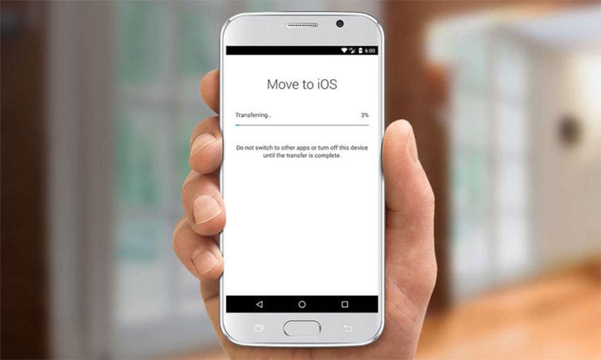 نوار بارگذاری Move to iOS