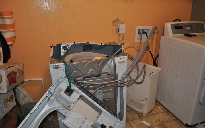 ماشین لباسشویی منفجر شده سامسونگ