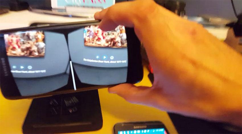 اجرای برنامه واقعیت مجازی دی دریم توسط گلکسی اس 7 اج