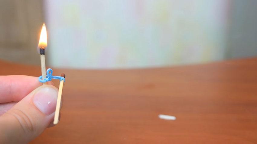 روشن کردن کبریت با استفاده از کش (تصویر 14)