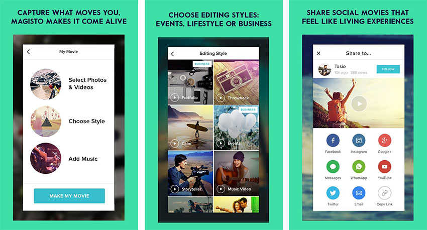 اپلیکیشن Magisto Video Editor & Maker