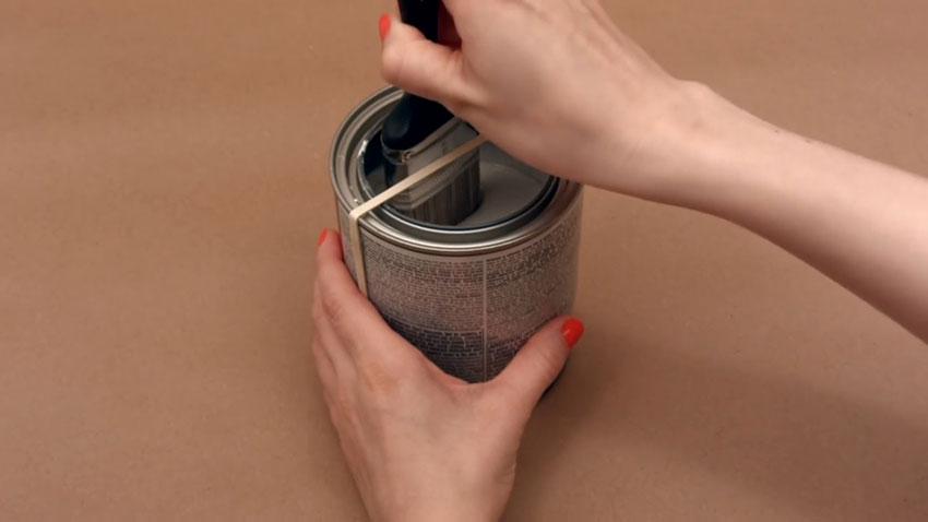قوطی رنگ (تصویر 5)  خلاقیت کده؛ کاربردهای خلاقانه کشهای لاستیکی Paint Can 05