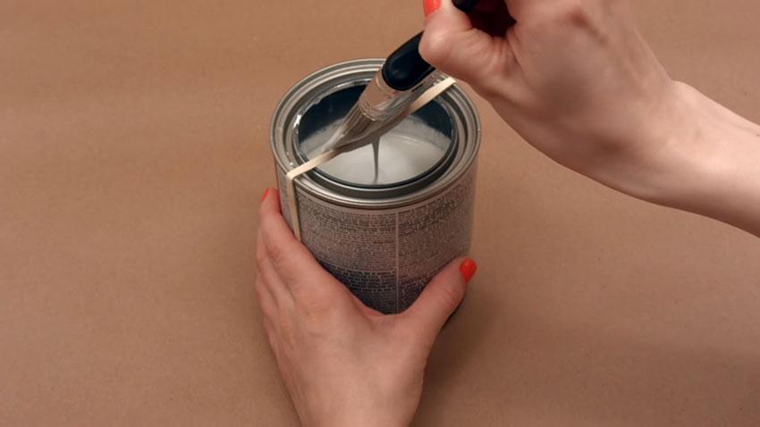 قوطی رنگ (تصویر 6)  خلاقیت کده؛ کاربردهای خلاقانه کشهای لاستیکی Paint Can 06