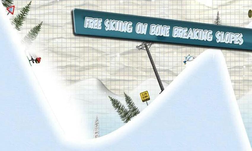 بازی Stickman Ski Racer