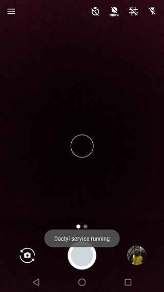 پیام فعال بودن اپلیکیشن Dactyl
