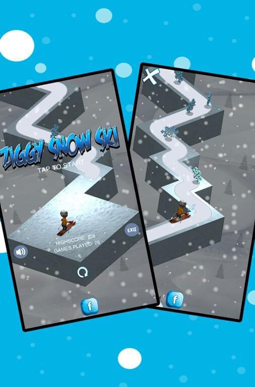 بازی ZigZag Snow Ski