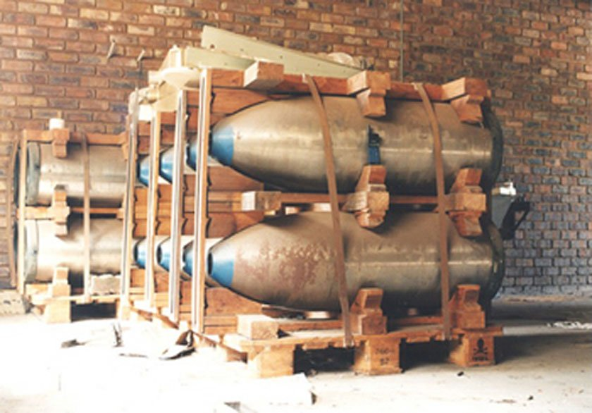 بمب های هسته ای ناتمام در پرتوریا، آفریقای جنوبی