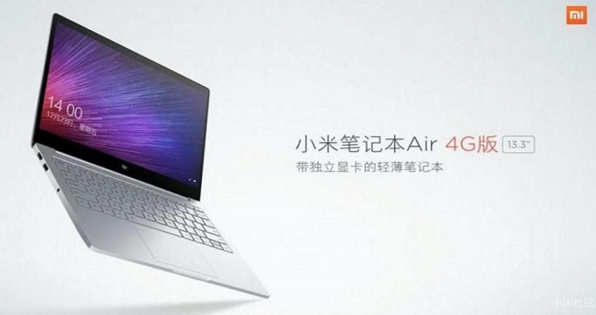 نسل جدید لپ تاپ می نوت بوک ایر شیائومی با پشتیبانی از شبکه 4G معرفی شد