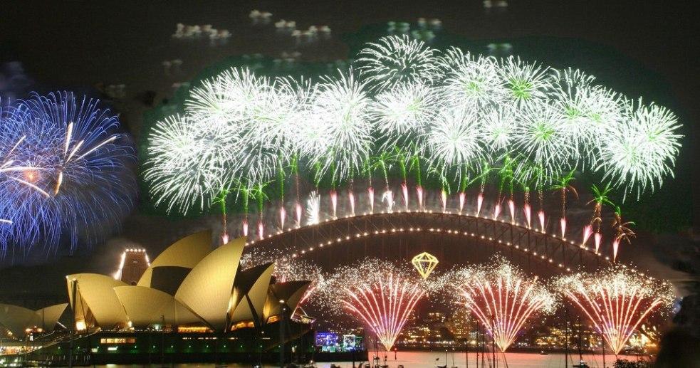 آتش بازی شب سال نو در سیدنی