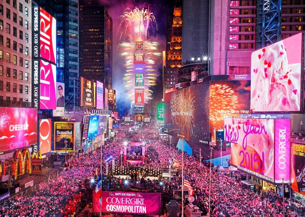 میدان تایمز در جشن سال نو میلادی