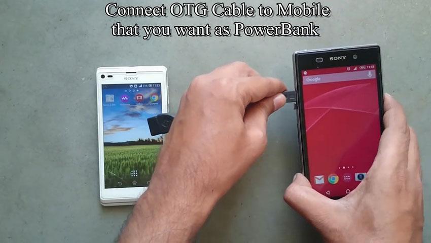 شارژ کردن گوشی هوشمند با استفاده از یک گوشی دیگر