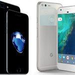 گوگل پیکسل و آیفون 7 اپل