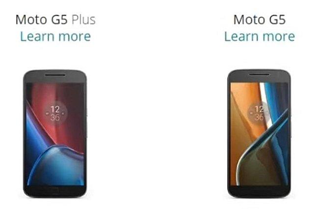 تصاویر احتمالی موتورولا Moto G5 و Moto G5 Plus