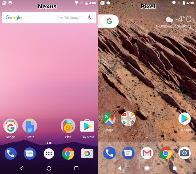 مقایسهی رابط کاربری گوگل پیکسل و نکسوس