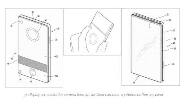 پتنت صفحه نمایش انعطافپذیر سامسونگ (تصویر 1)