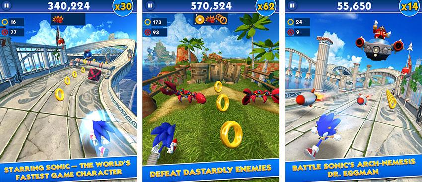 بازی Sonic Dash