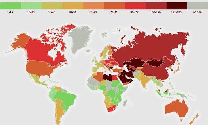 آلودهترین کشورهای جهان مشخص شد؛ ایران در رتبه یازدهم!