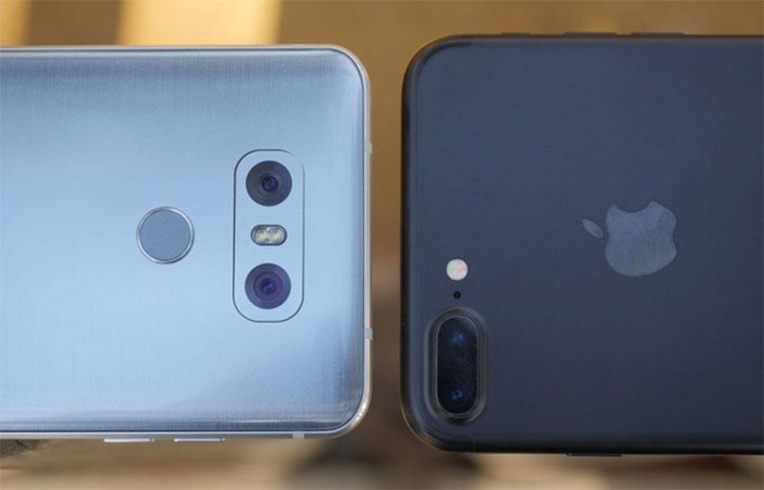 دوربین ال جی جی 6 و آیفون 7 پلاس