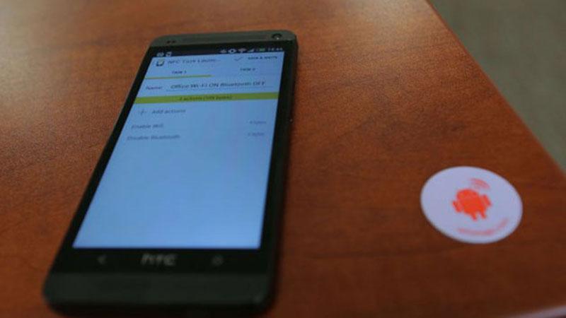 برچسب NFC برای زنگ بیدارباش