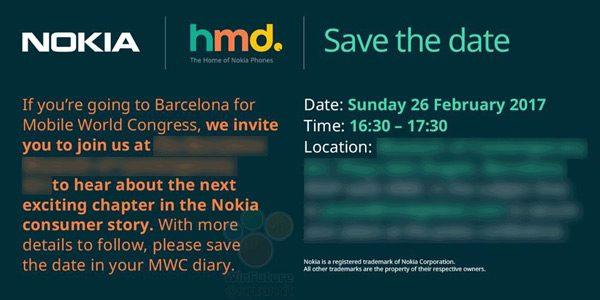 دعوتنامه نوکیا برای نمایشگاه MWC