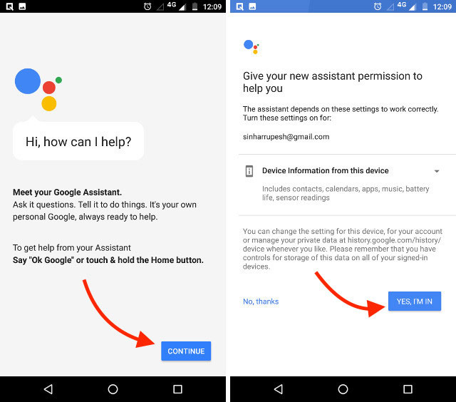 تنظیمات دستیار گوگل