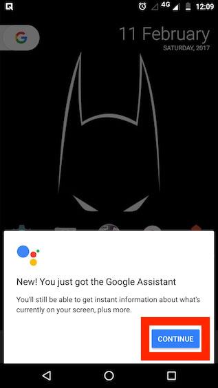اجرای دستیار گوگل