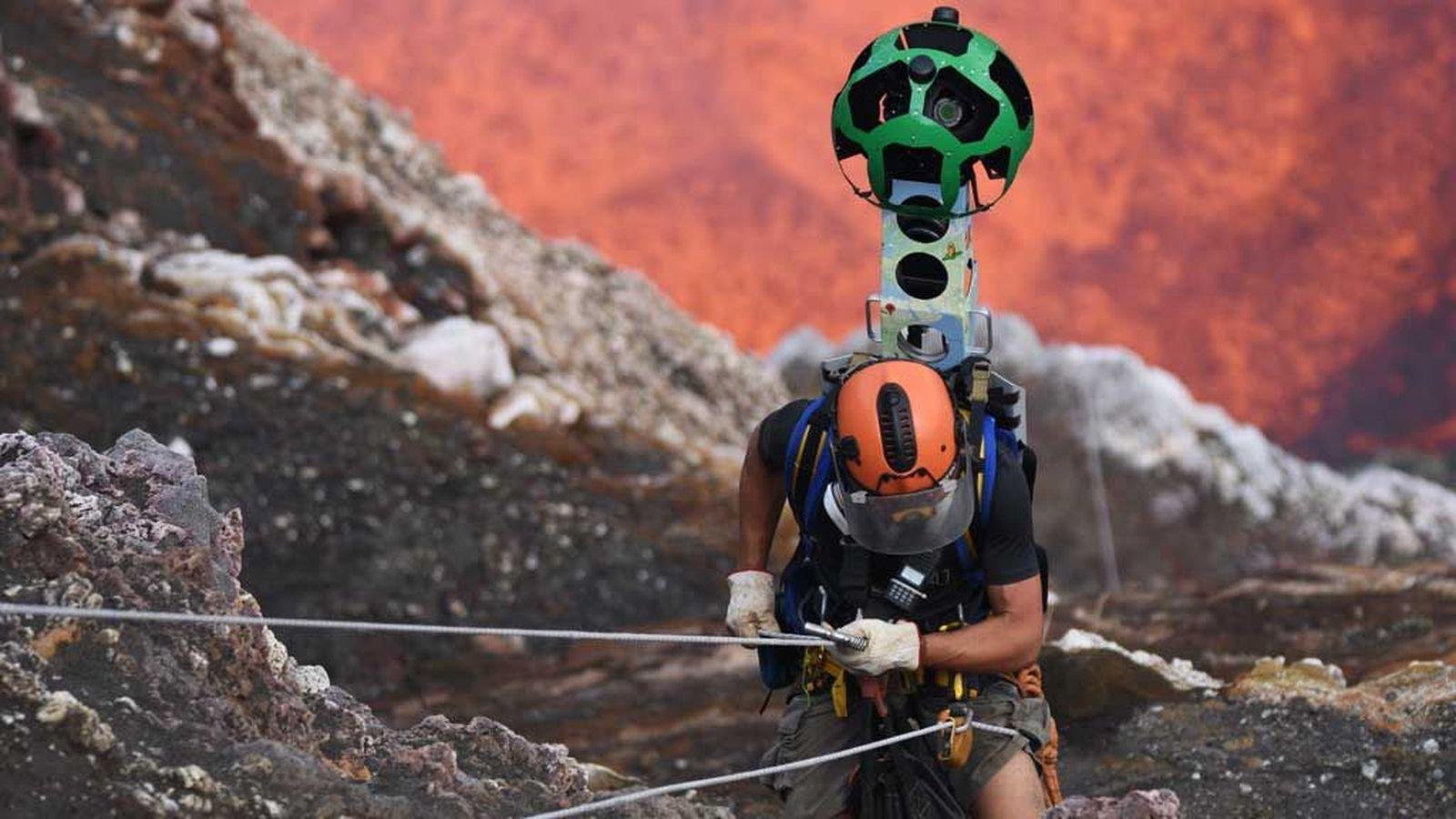 گوگل مپ - آتشفشان
