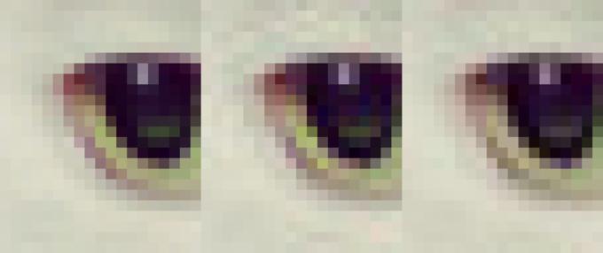 کاهش حجم از چپ به راست به وسیله Guetzli