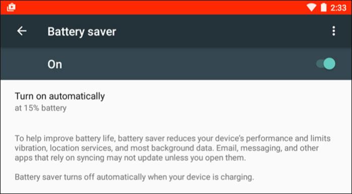استفاده از Battery Saver
