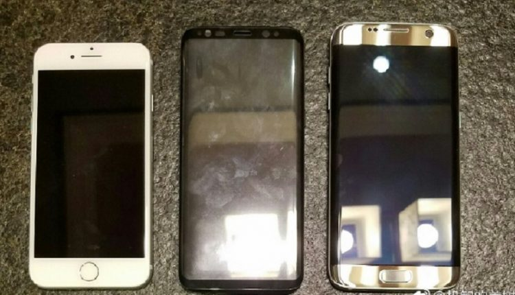 مقایسه اندازه گلکسی اس 8 با آیفون 7 و گلکسی اس 7 اج