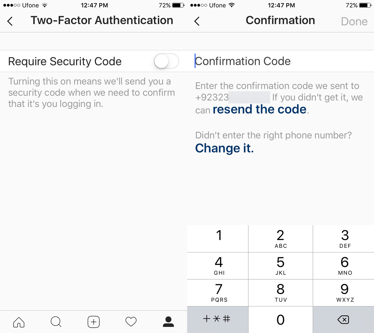 instagram-require-security-code