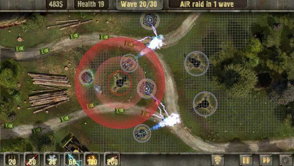 بررسی بازی منطقه دفاعی