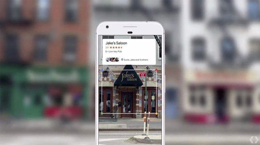 اطلاعات محل در گوگل لنز