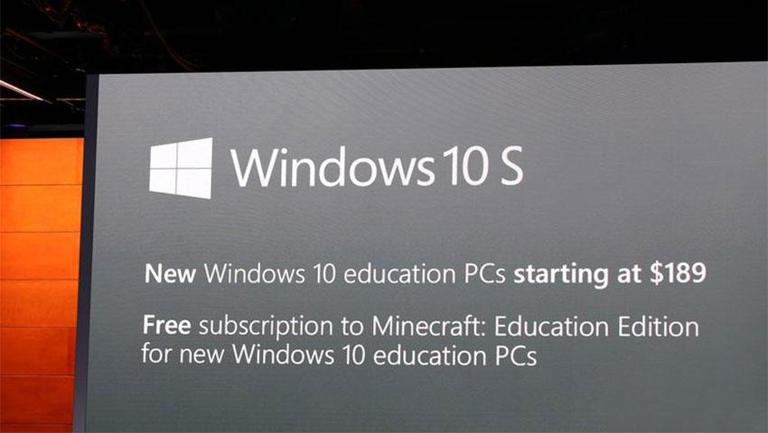 قیمت رایانه مجهز به ویندوز 10 اس