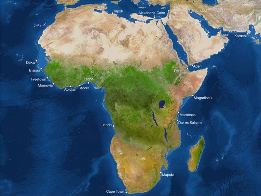 آفریقا پس از ذوب شدن یخها