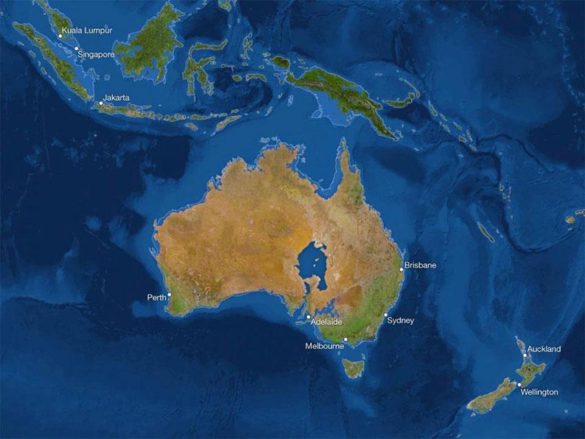استرالیا پس از ذوب شدن یخها