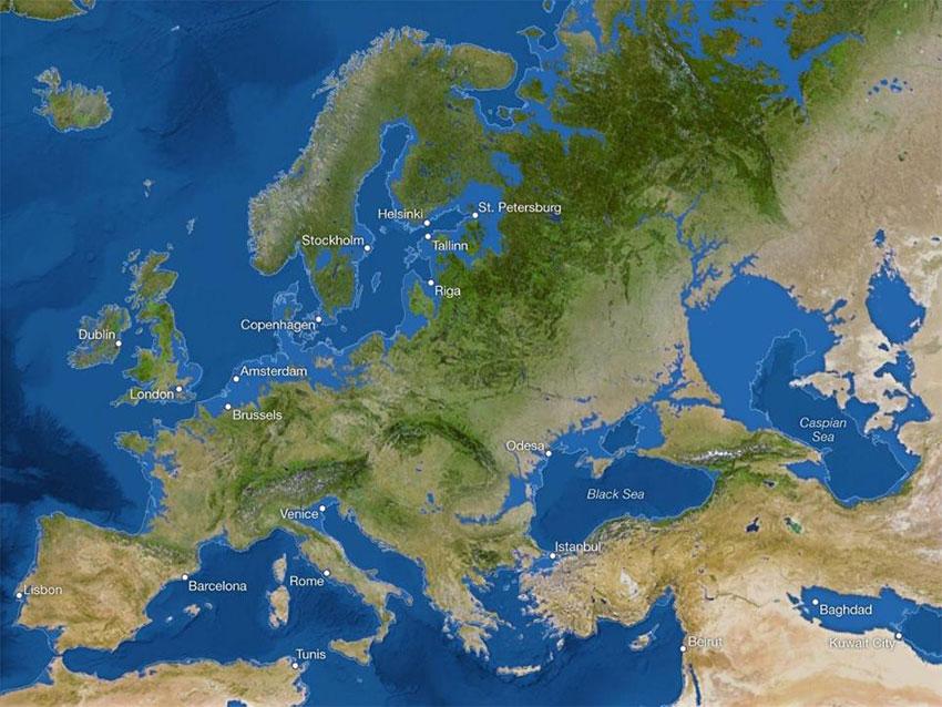 اروپا پس از ذوب شدن یخها
