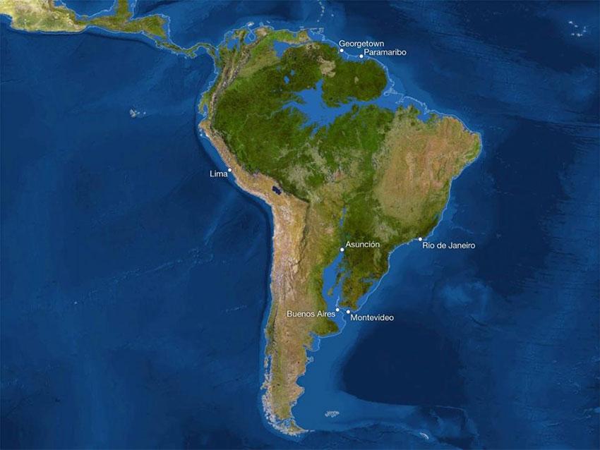 آمریکای جنوبی پس از ذوب شدن یخها