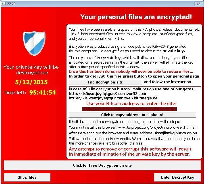 از دسامبر 2015 تا مه 2016 Tescrypt رایجترین نوع باج افزار بود که مایکروسافت شناسایی کرد.