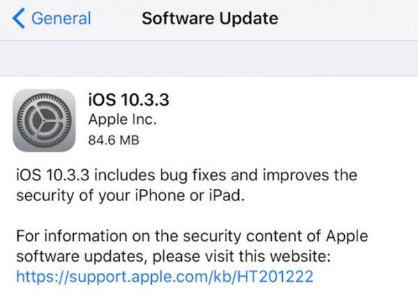 آی او اس 10.3.3