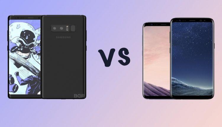 مقایسه باتری گلکسی نوت 8 و گلکسی اس 8 در دیجی رو