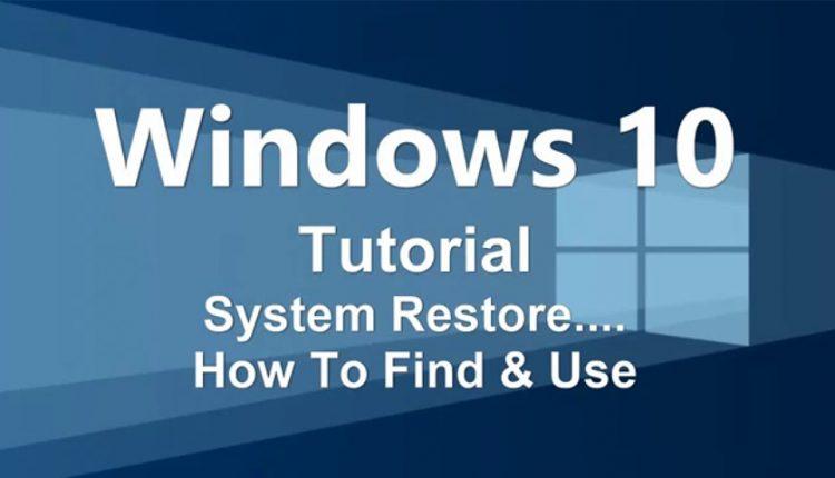 نحوه Restore کردن سیستم در ویندوز 10